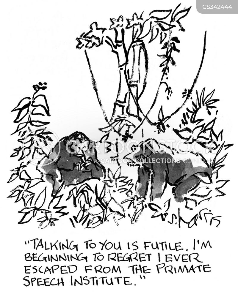Primate Speech Institutes Cartoons and Comics - funny
