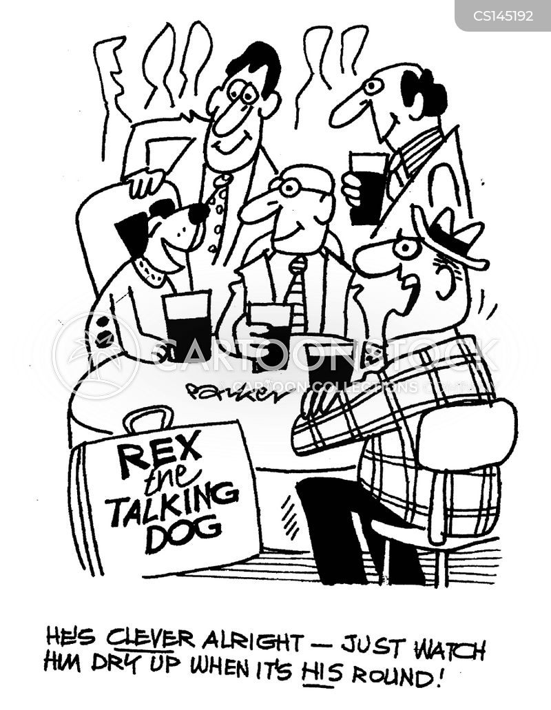 round of drinks cartoon