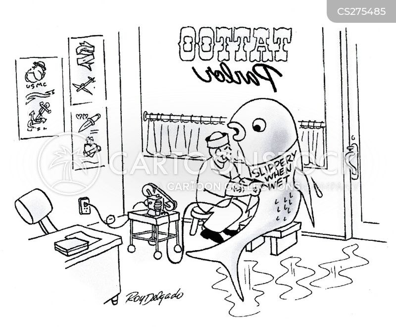 tattoo shop cartoon