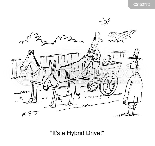 electronic cars cartoon