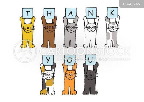 thank you cards cartoon
