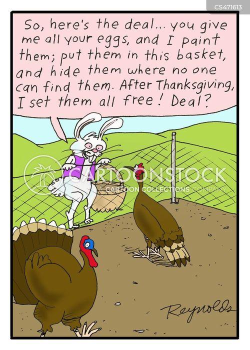 decorated eggs cartoon