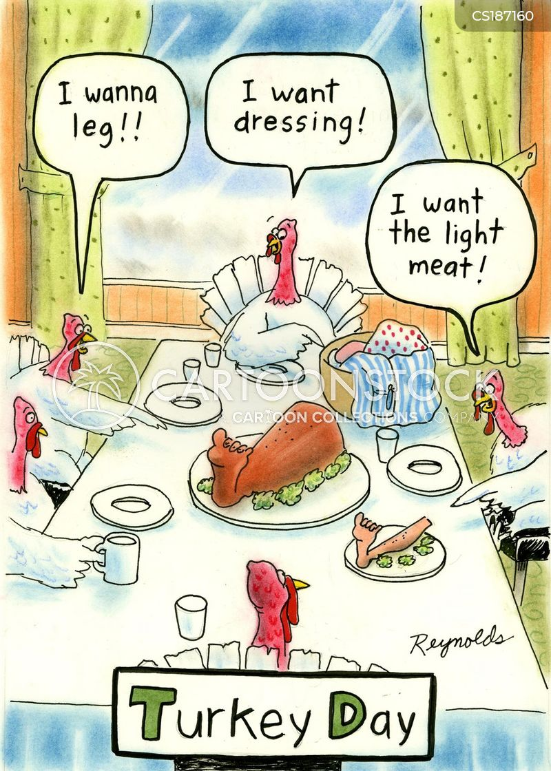 thanksgiving meals cartoon