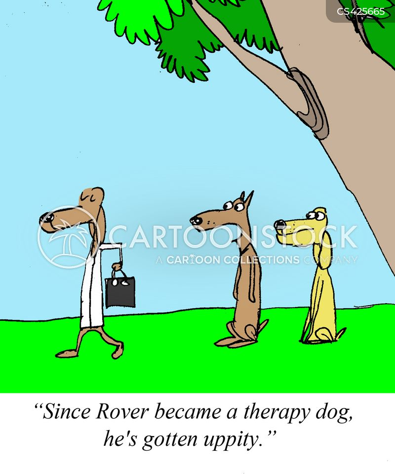 therapy dogs cartoon