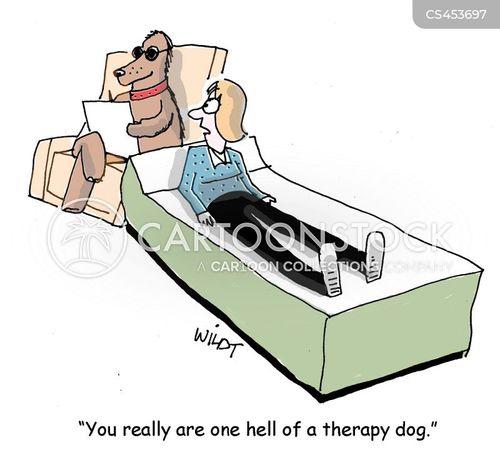 therapy dog cartoon