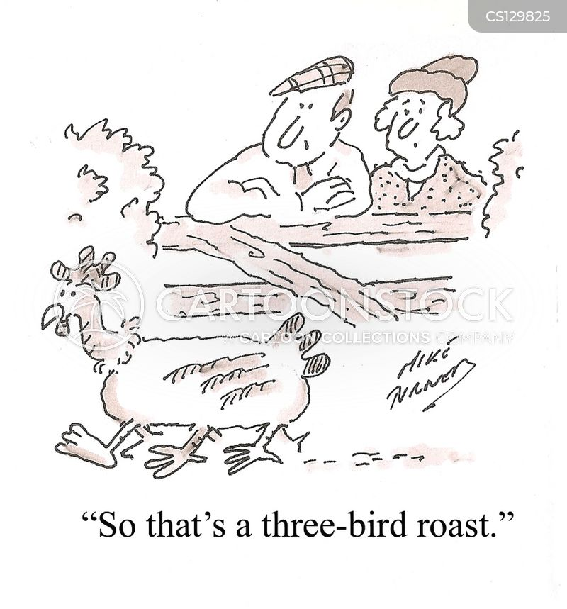 roast chicken cartoon