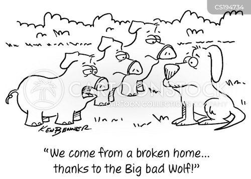 broken homes cartoon