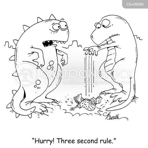 three-second-rule cartoon