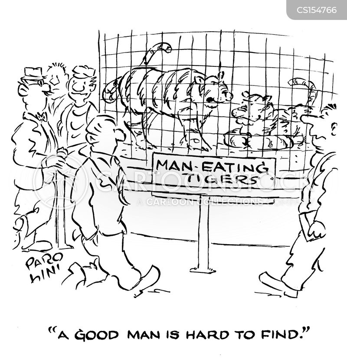 caged tigers cartoon