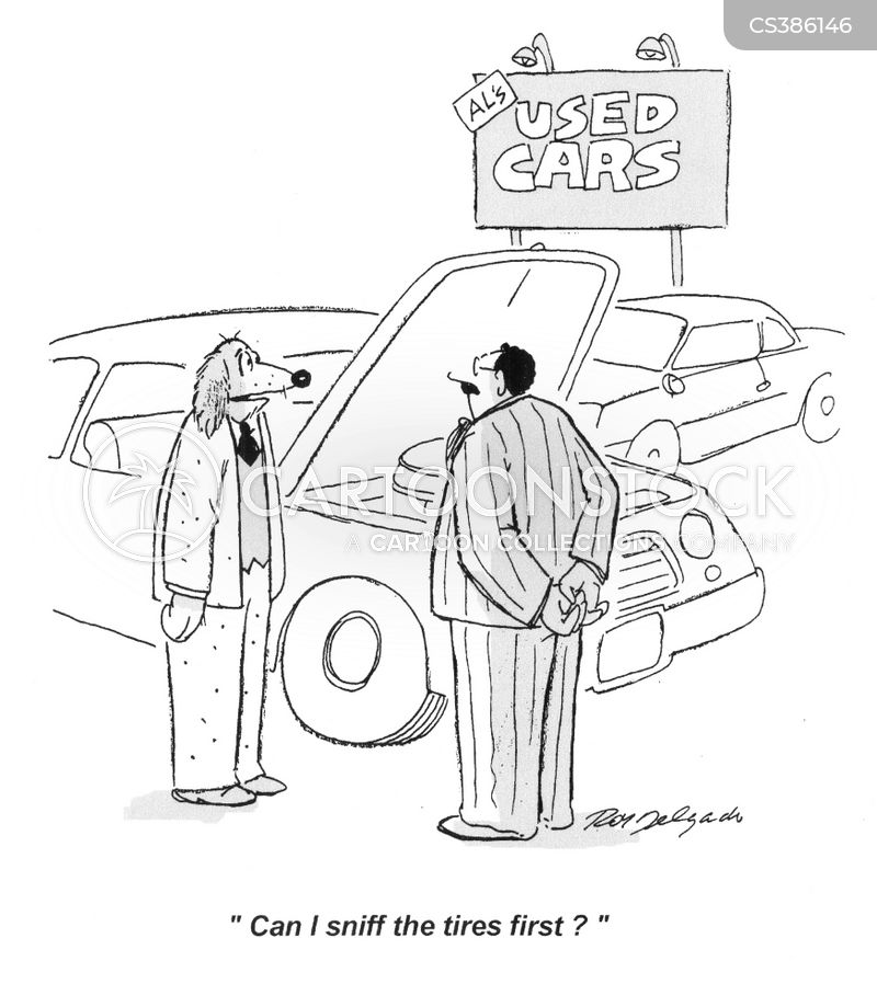 second-hand cars cartoon