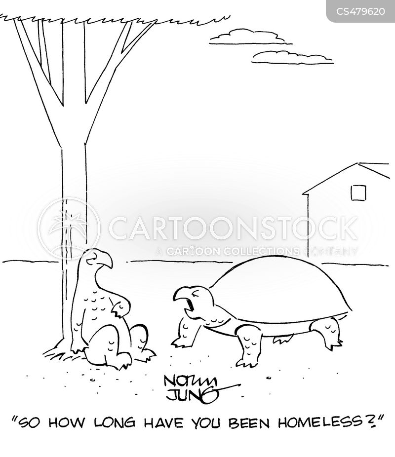 homeless problem cartoon