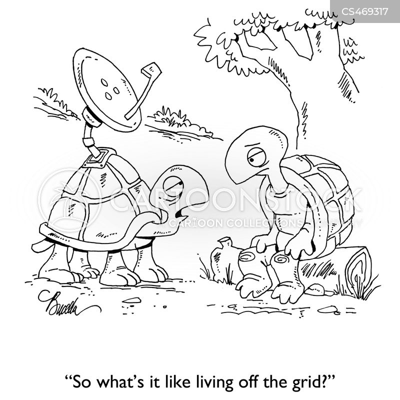 living off the grid cartoon