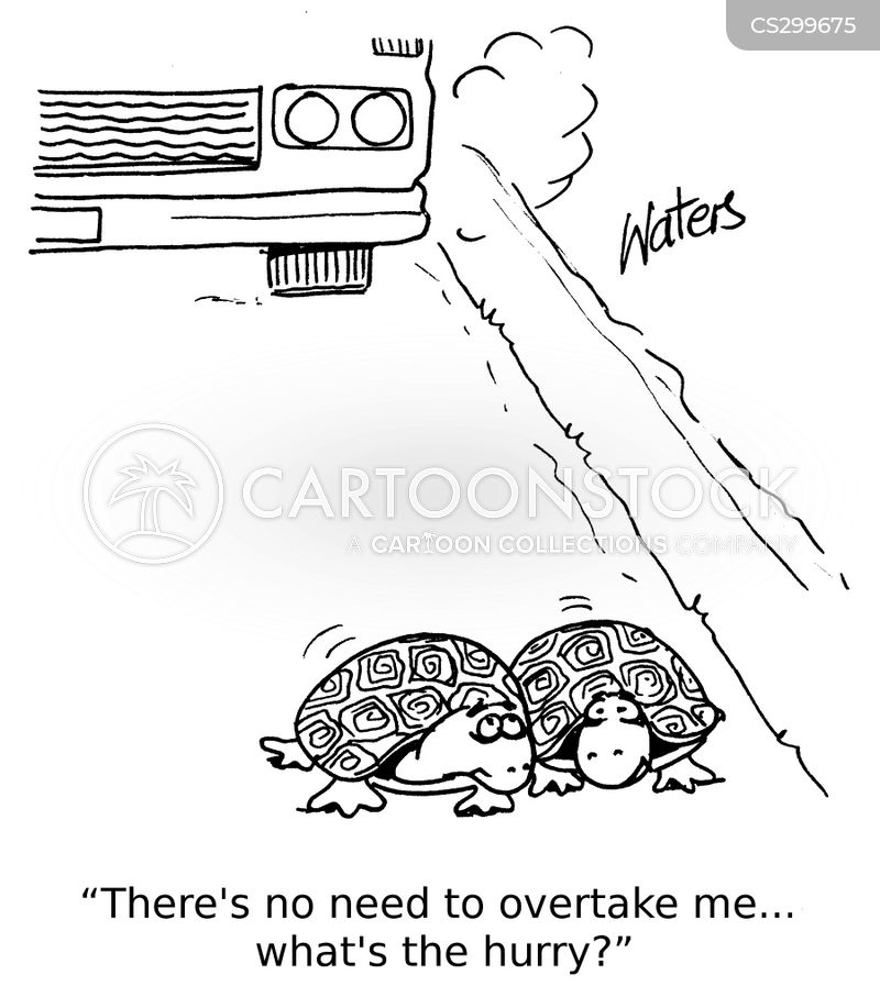 overtakes cartoon