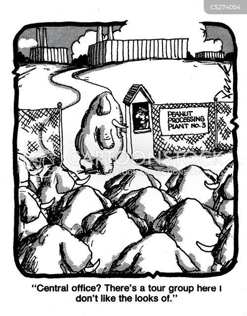 factory tour cartoon