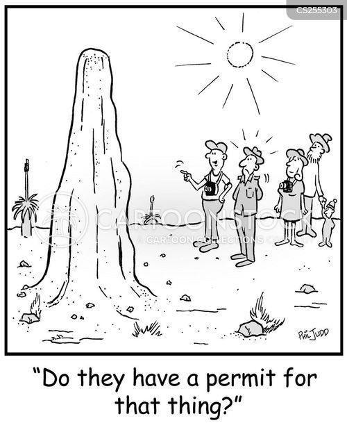 termite mounds cartoon