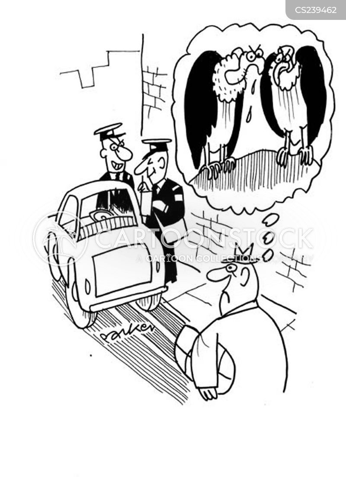 parking attendants cartoon