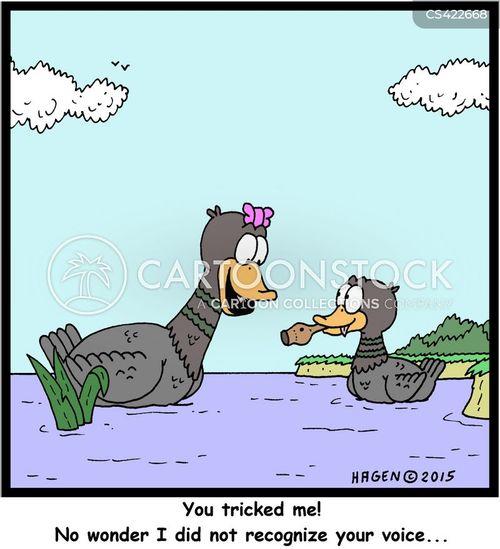 duck calls cartoon