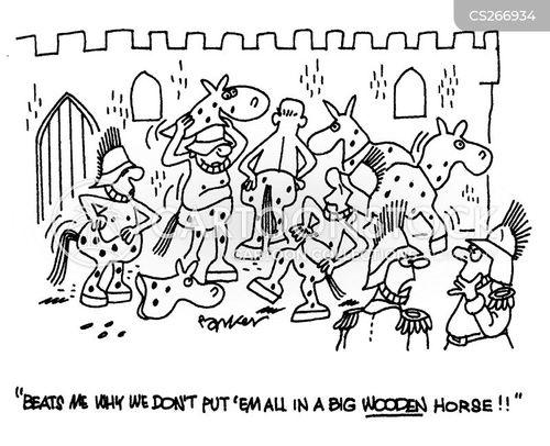 horse of troy cartoon