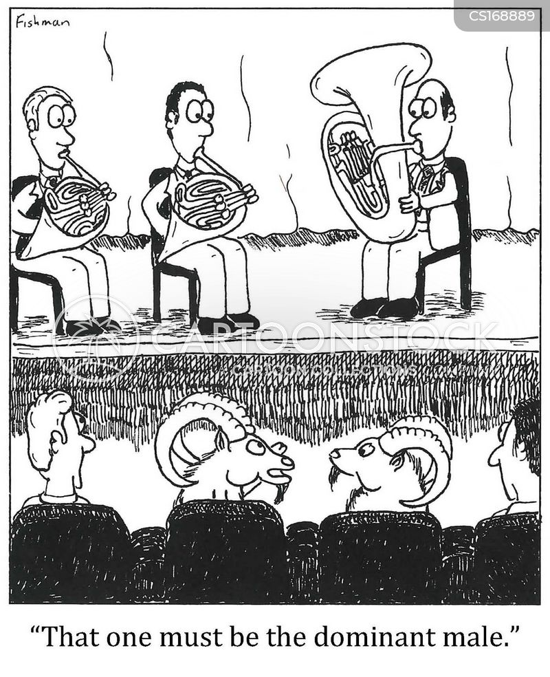 french horns cartoon