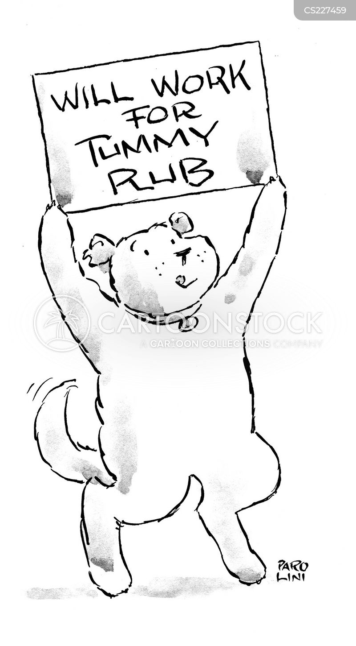 eager dog cartoon
