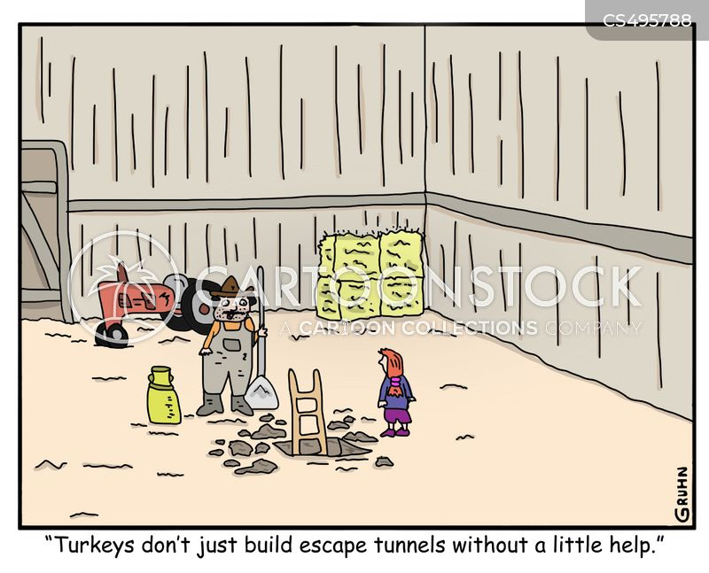escape tunnels cartoon