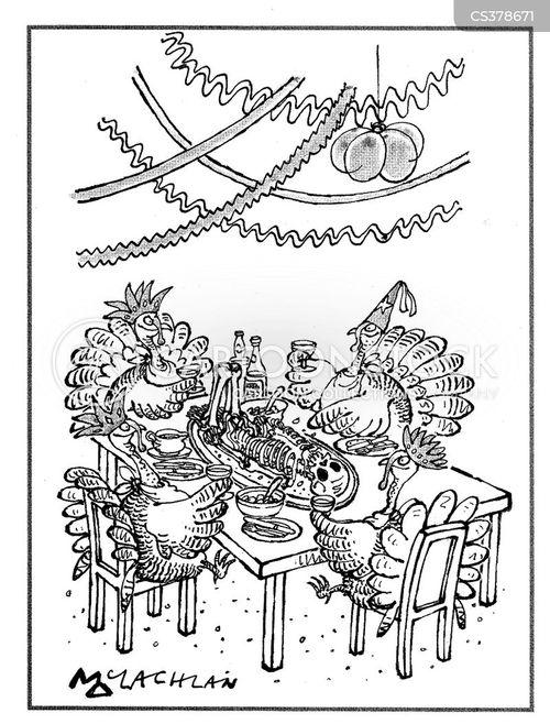 roast turkey cartoon