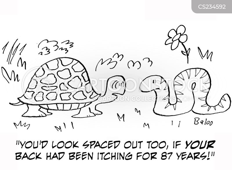 spaced out cartoon