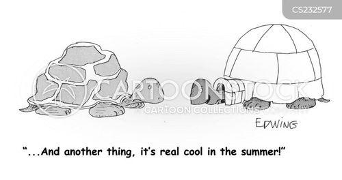 keeping cool cartoon
