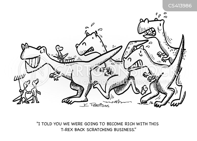 back scratching cartoon