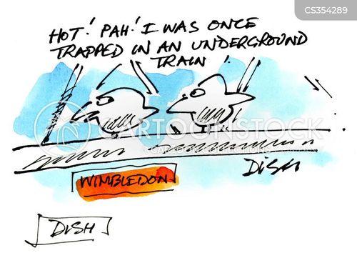 underground train cartoon