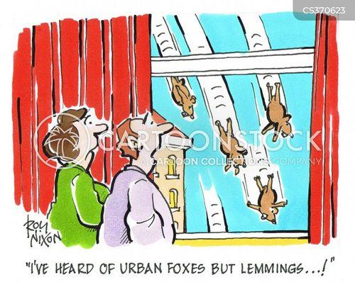 urban fox cartoon