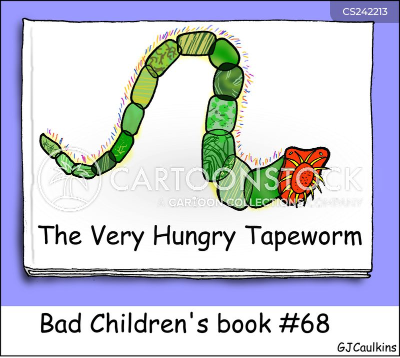 tape worm cartoon