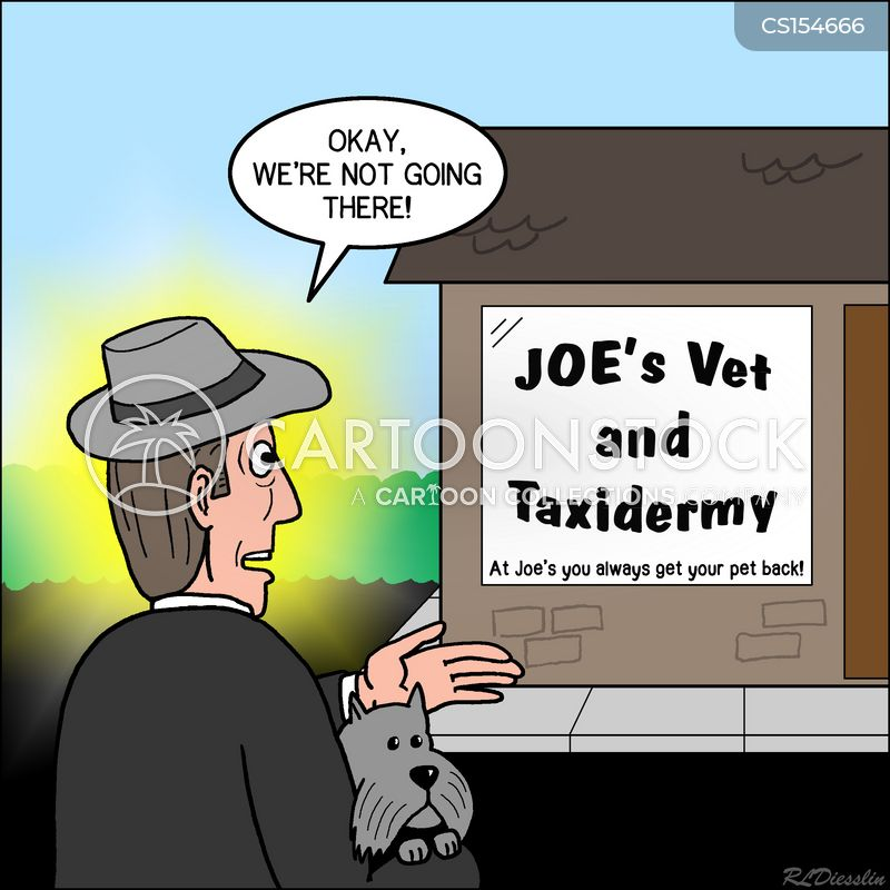 taxidermist cartoon