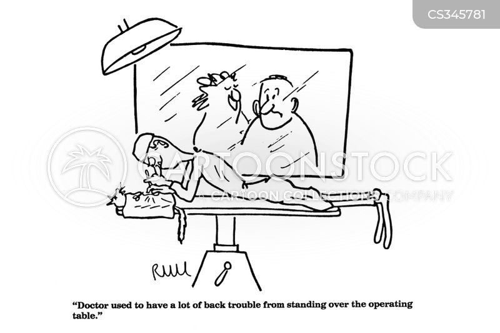 back trouble cartoon
