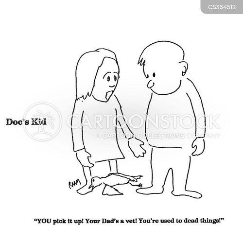 dead animals cartoon