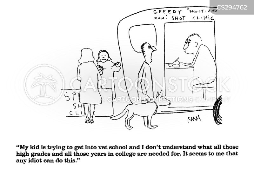 veterinary school cartoon