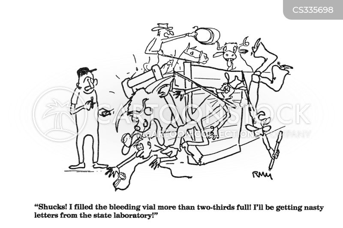 lab test cartoon