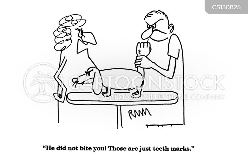 teeth marks cartoon