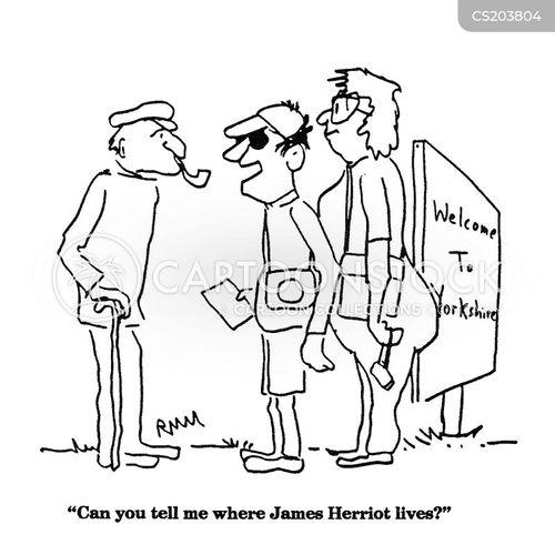 tourist sites cartoon