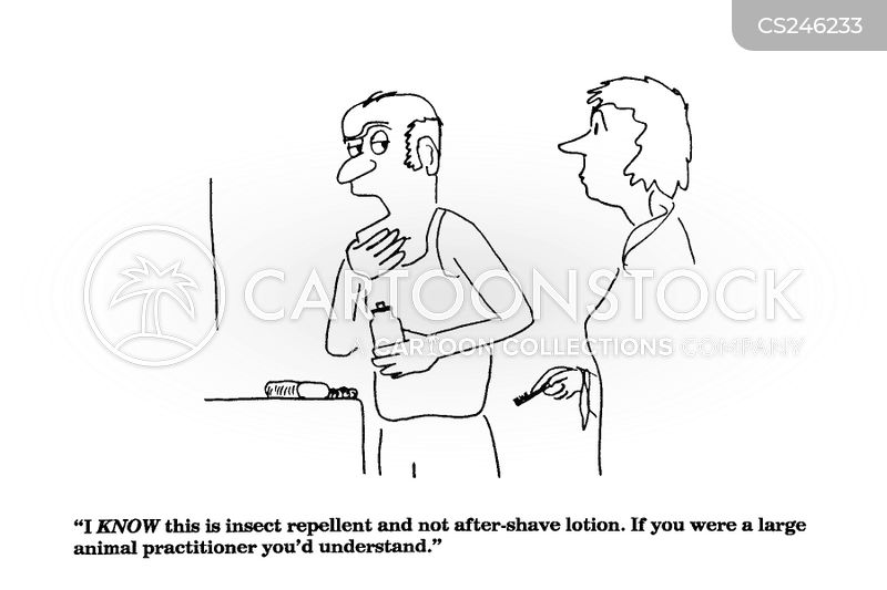 after shave cartoon