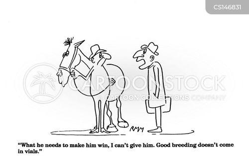 horse breeder cartoon