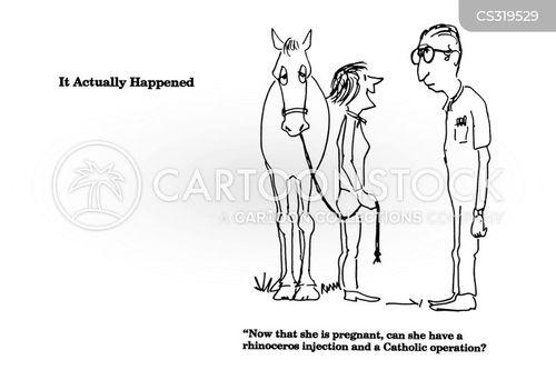 horse stable cartoon