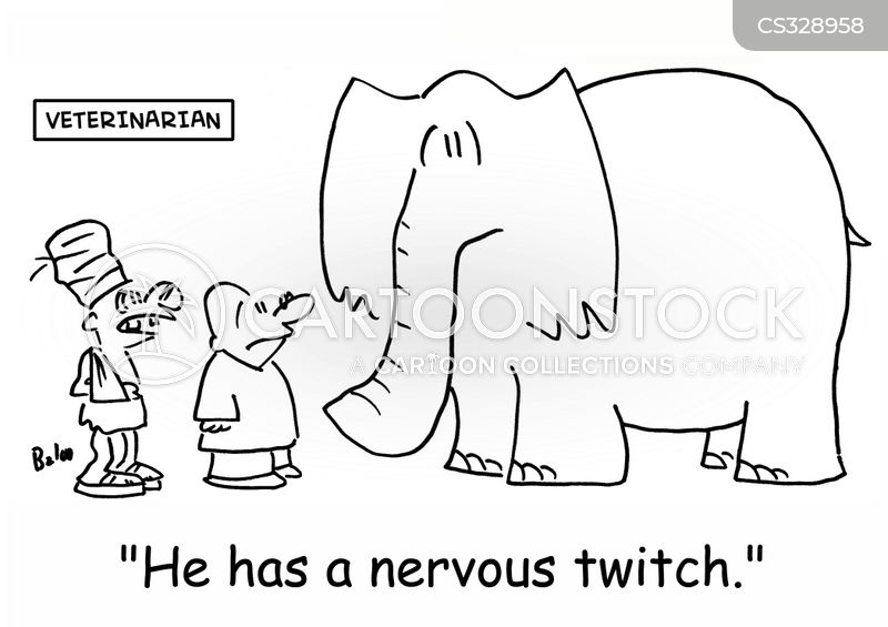 twitching cartoon