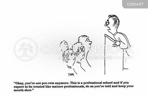 treating animals cartoon