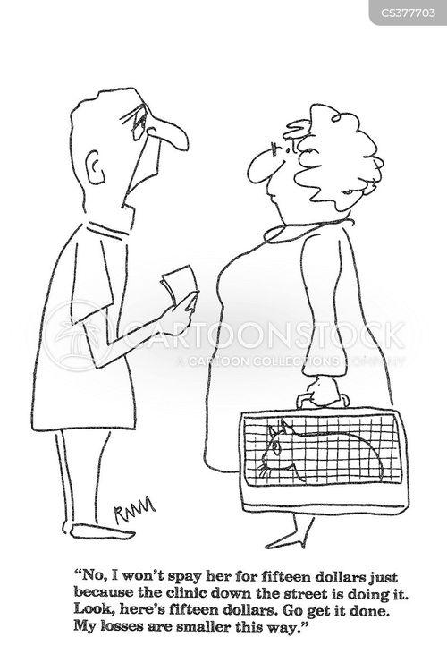 competitive market cartoon