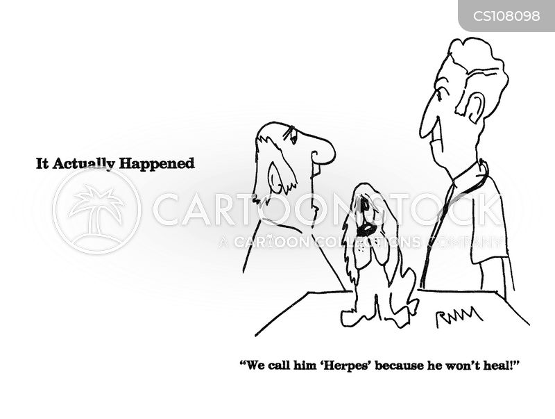herpes cartoon
