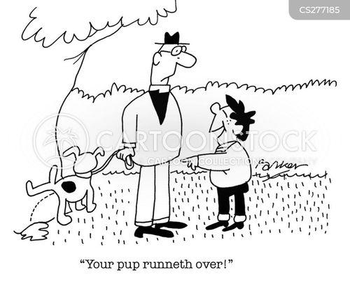 dog peeing cartoon
