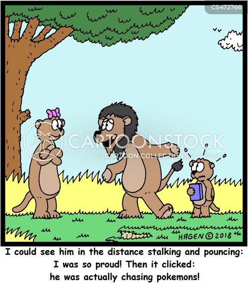 pouncing cartoon