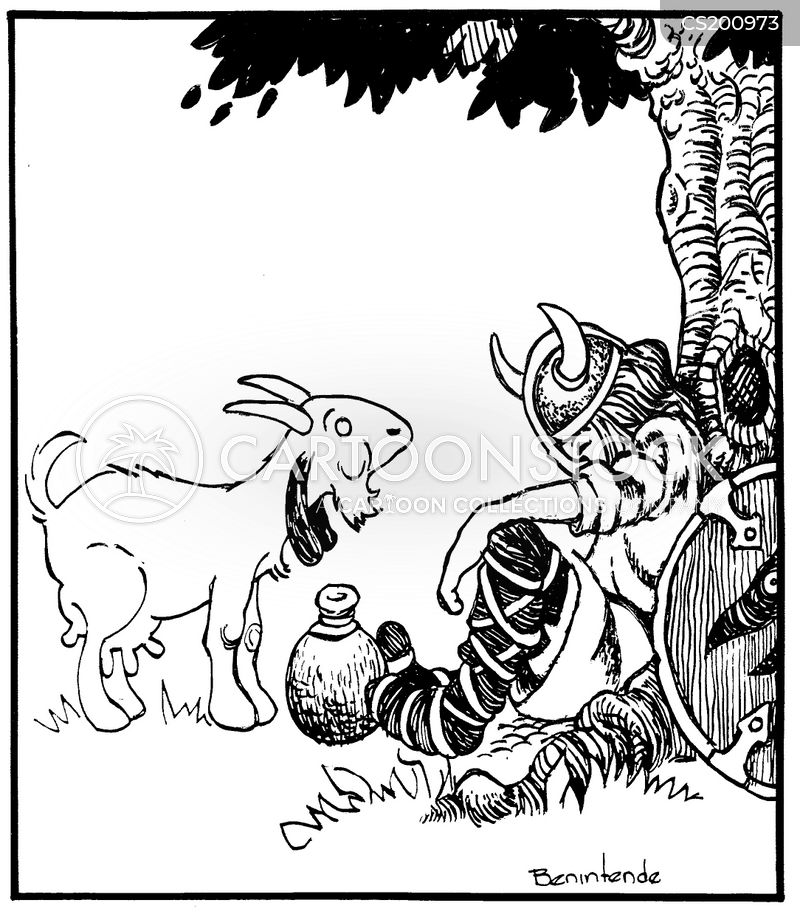 viking raid cartoon