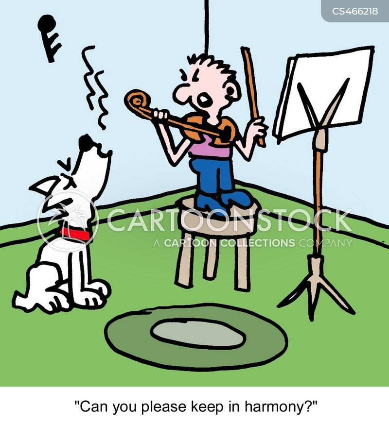 violin lessons cartoon